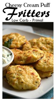 Cheesy Fritter Puff - Low Carb - Gluten Free - Primal