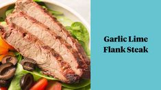 Garlic Lime Flank Steak is a must try grilling recipe! The flank steak marinade is loaded with flavor, easy to make & healthy! Paleo & Whole30 friendly too! Turn it into fajitas, serve with grilled veggies, or eat it on a salad - it's delicious no matter what! Healthy Beef Recipes, Healthy Grilling, Clean Eating Recipes, Grilling Recipes, Meat Recipes, Balsamic Mushrooms, Salmon Marinade, Paleo, Keto
