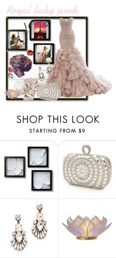 """""""Royal baby pink"""" by mahima-dahiya ❤ liked on Polyvore featuring Maggie Sottero, Mascara, Noir Jewelry and Carvela"""
