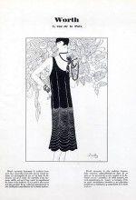 Worth 1926 black Dinner Dress