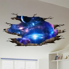 Cheap wall stickers, Buy Quality wall sticker directly from China wall Suppliers: [SHIJUEHEZI] Universe Galaxy Wall Stickers Vinyl DIY Milky Way Mural Decals for Kids Rooms Toilet Floor Ceiling Decoration Floor Decal, Floor Stickers, Wall Decor Stickers, Wall Decals, Wall Stickers For Boys, Vinyl Decals, Decorative Stickers, Mural Art, Decorating Rooms