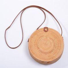 The Bali Island Handmade Woven Rattan Straw Bohemian Shoulder Crossbody Bag Collection Boho Chic, Bohemian, Round Bag, Round Straw Bag, Estilo Boho, Types Of Bag, Wicker, Rattan, Unisex