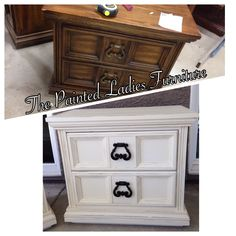 Annie Sloan old white night stands.