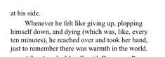 Just a friendly reminder that Percy would be suicidal if not for Annabeth