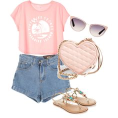A fashion look from January 2015 featuring Victoria's Secret t-shirts, Chicnova Fashion shorts and Monsoon sandals. Browse and shop related looks.