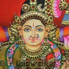 Tanjore paintings Mysore Painting, Tanjore Painting, Krishna Painting, Mural Painting, Fabric Painting, Diy Painting, Painting & Drawing, Indian Traditional Paintings, Indian Paintings