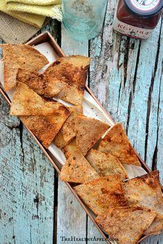 Gluten-Free Baked Cumin Tortilla Chips #glutenfree