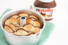 Nutella Monkey Bread!   WOW I have died and gone to Heaven! So Easy using premade Biscuits & Nutella..How can you not LOVE this!!