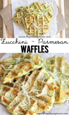 Insanely Delicious Waffle Iron Recipes (Not Just Waffles!) Zucchini Parmesan Waffle Fritters - the PERFECT way to get the kids to eat their veggies!Zucchini Parmesan Waffle Fritters - the PERFECT way to get the kids to eat their veggies! Zucchini Waffles, Waffle Maker Recipes, Foods With Iron, Zucchini Parmesan, Recipe Zucchini, Healthy Zucchini, Pancakes And Waffles, Savory Waffles, Paleo Pancakes