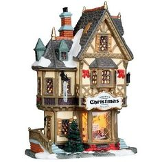 Lemax Porcelain Lighted House Village Tannenbaum Christmas Shoppe H X ** For more information, visit image link. (This is an affiliate link) Village Lemax, Christmas Village Display, Christmas Village Houses, Christmas Store, Christmas Villages, Christmas Shopping, Xmas, Villas, Cody Simpson