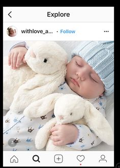 A baby needs no silver spoon when he's got arm loads of soft bunnies. Little Boy Blue, Cute Little Baby, Baby Kind, Little Babies, Share Pictures, Baby Pictures, Funny Babies, Cute Babies, Animated Gifs