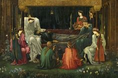 El sueño del rey Arturo en Avalon (Sir Edward Coley Burne-Jones)