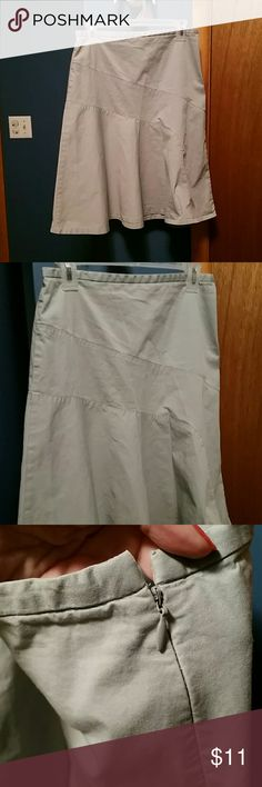 Gap pale blue cotton skirt In excellent condition. Zippers on the side. GAP Skirts A-Line or Full