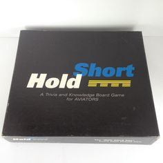 Hold Short A Trivia Knowledge Board Game for Pilots Aviators 2002 Complete #CavuCompanies