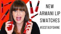 Armani Ecstasy Shine Lipstick Review + Swatches