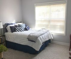 Guest bedroom at our first home – The Frugal Homemaker