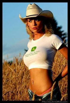 Image result for Sexy Girl On Tractor John Deere Combine