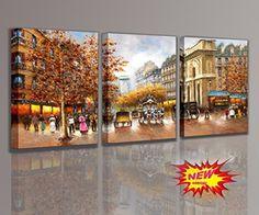 [Framed] Paris City Scene Landscape Picture Prints Canvas Wall Art Home Decor #Impressionism