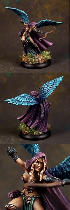 Thief of Hearts - Winged Female Thief Archer - Visions in Fantasy - Miniature Lines