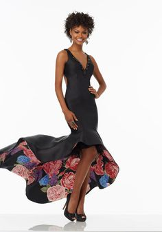 Long sleeve floral cocktail dress 99019 county