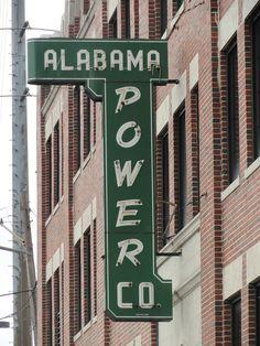 Alabama Power Company Sign, Birmingham AL