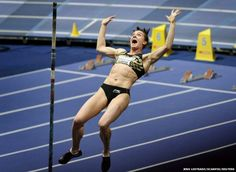 Olympic champion Yelena Isinbayeva set a new world indoor pole vault record of 5.01m at the XL Galan meeting in Stockholm. The 29-year-old Russian athlete, who holds the outdoor world record of 5.06m, improved on her previous mark of 5.00m, set in Donetsk in 2009.