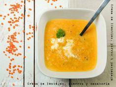 crema de llenties, porros i pastanaga