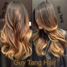 Ombre on dark hair by Guy Tang