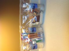 """I put together """"care bags"""" that I can keep in my car to give to the homeless.  bags contain: 2 bottles of drinking water, 1 bar of soap, toothbrush, toothpaste, mouthwash, Chapstick, a package of pop tarts, honey roasted peanuts, and two packages of cheddar cheese crackers!"""