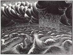 Fish & Boat - M.C. Escher - WikiPaintings.org