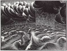 The 2nd Day of the Creation, 1925   M.C. Escher - All works chronologically
