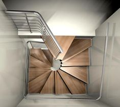 Treppe What do you think of these square spiral staircases from RFserveis? Home Stairs Design, Railing Design, Interior Stairs, Small Space Staircase, Building Stairs, Building Homes, Staircase Railings, Spiral Staircases, Steel Stairs