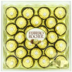 Ferrero Rocher Fine Hazelnut Milk Chocolate, 24 Count, Chocolate Candy Gift Box, Perfect Easter Egg and Basket Stuffers, oz Chocolate Gift Boxes, Valentine Chocolate, Chocolate Shop, Chocolate Hazelnut, Chocolate Truffles, Chocolate Lovers, Chocolate Party, Candy Gift Box, Candy Gifts