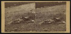 Dead Confederate soldier on the Gettysburg battlefield. Photographed by Alexander Gardner circa July 1863. #gettysburg #civilwar