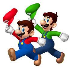 Mario,Luigi hatless lol