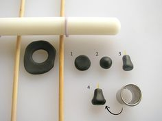 Fondant Roller, Dowels and Fondant Shapes