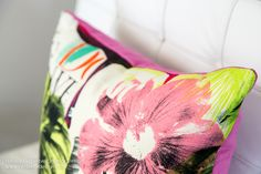 The dream vacation tropical pillows for your home. Designed by Natalie Fuglestveit Interior Design. Sold in Canada for $124ea.