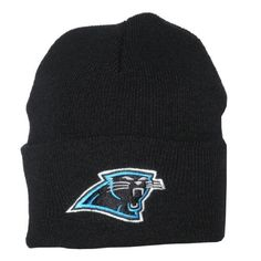 Adult NFL Carolina Panthers Warm Ski & Skate Roll Up Beanie / Winter Hat - One Size Fits All - Black by NFL. $9.99
