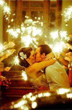 I love the idea of sparklers at my wedding! #sparklingeverafter