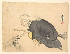 Uba  Shibata Zeshin  (Japanese, 1807–1891)  Date: ca. 1860 Culture: Japan Medium: Polychrome woodblock print; ink and color on paper