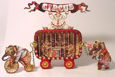 Trash to Treasure Art: Altered Altoid Tin-The Circus Is In Town Circus Crafts, Circus Art, Circus Theme, Clown Crafts, Circus Train, Circus Birthday, Birthday Parties, Altered Tins, Altered Art