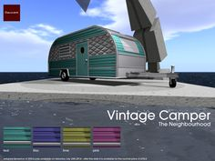 coming from 22769 ~ [bauwerk] for the upcoming Neighbourhood. The Vintage Camper will be available in four bright colors for you to choose from. Each 22769 ~ [bauwerk] Vintage Camper is fille dwith 10 single- and 8 couple animations. After the Neighbourhood (saturday 26th,2014) the 22769 ~ [bauwerk] Vintage Camper will be priced up back to it's normal price of 475L$ each.
