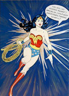 Wonder Woman by Monica Warhol What Motivates Me, Spiderman, Batman, Lynda Carter, Warhol, Good Looking Men, Guys And Girls, Daydream, Disney Characters
