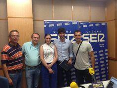 Foto de: La Gazpachería Andaluza. (20/06/2014) En el programa Hoy por Hoy de Radio Sevilla con Salomón Hachuel, Guia comensal, Julio Abantal y La Gazpachería Andaluza #Músicaemoción