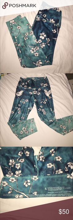 My inner fire blue blossom yoga leggings These leggings are cropped, the inseam is 21 inches. These are in perfect condition. Size XS.  Make me an offer :) my inner fire Pants Leggings