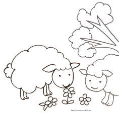 1000 images about coloriages mouton on pinterest sheep - Dessin mouton rigolo ...