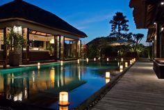Bali Villa Photography - Sentosa Seminyak - pool views dusk lighting
