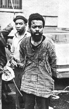 Amiri Baraka, formerly known as LeRoi Jones and Imamu Amear Baraka was arrested in Newark for allegedly possessing an illegal weapon and resisting arrest during the Newark Riots, July 1967.
