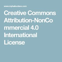 Creative Commons Attribution-NonCommercial 4.0 International License