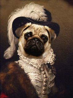 Discover recipes, home ideas, style inspiration and other ideas to try. Portrait Renaissance, Animal Farm George Orwell, Dog Canvas Painting, Old Pug, Pug Art, Photo Portrait, Animal Heads, Pug Love, Dog Portraits